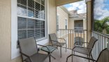 Orlando Condo for rent direct from owner, check out the Screened balcony with seating for 4
