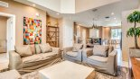 Living room with comfortable seating from Delight 2 Townhouse for rent in Orlando