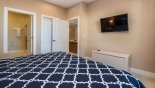 Townhouse rentals near Disney direct with owner, check out the Ground floor master bedroom #1 viewed towards ensuite bathroom