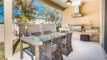 Orlando Townhouse for rent direct from owner, check out the View of covered lanai showing walled gardens