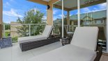 Private balcony off master bedroom #2 with 2 qualiy sun loungers & external speaker with this Orlando Townhouse for rent direct from owner