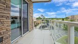 Private balcony off bedroom #3 from Delight 3 Townhouse for rent in Orlando
