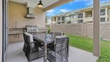 Townhouse rentals near Disney direct with owner, check out the Covered lanai with outdoor kitchen incorporating a built-in gas BBQ