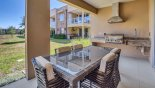 Spacious rental Magic Village Resort Townhouse in Orlando complete with stunning View of outdoor kitchen with built-in gas BBQ and inset sink