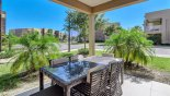 Townhouse rentals near Disney direct with owner, check out the Covered lanai with patio table & 5 chairs & additional box seat