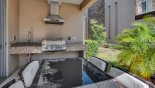 Spacious rental Magic Village Resort Townhouse in Orlando complete with stunning Outdoor kitchen with built-in gas BBQ and inset sink