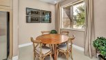 Dining nook with seating for 4 persons with this Orlando Townhouse for rent direct from owner