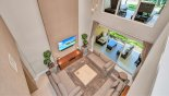Orlando Townhouse for rent direct from owner, check out the View from landing over living room below