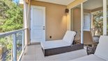 Private balcony with 2 quality sun loungers - www.iwantavilla.com is the best in Orlando vacation Townhouse rentals
