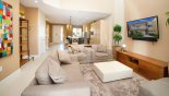 View of open plan living space from living room with this Orlando Townhouse for rent direct from owner