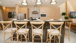 Breakfast bar with 5 bar stools from Magic Village Resort rental Townhouse direct from owner