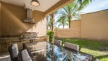 Covered lanai showing private views from Delight 6 Townhouse for rent in Orlando