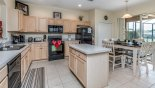 Fully fitted kitchen with quality gloss black appliances from Emerald Island Resort rental Villa direct from owner