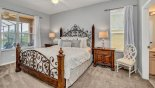 Magna Bay 1 Villa rental near Disney with Ground floor master bedroom #1 with king sized bed & views onto pool deck