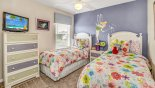 Magna Bay 1 Villa rental near Disney with Bedroom #6 with twin beds & floral theming