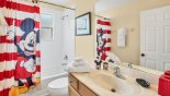 Magna Bay 1 Villa rental near Disney with Family bathroom #3 with bath & shower over, built-in vanity unit & WC
