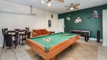 Villa rentals near Disney direct with owner, check out the Games room with pool table, air hockey, smart TV and portable AC
