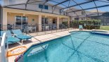 Pool deck with 5 sun loungers - www.iwantavilla.com is your first choice of Villa rentals in Orlando direct with owner