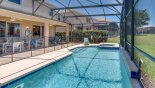 Villa rentals near Disney direct with owner, check out the Pool deck showing pool safety fence erected