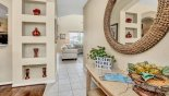 View from entrance hallway towards family room from Magna Bay 1 Villa for rent in Orlando