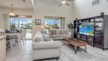 Villa rentals in Orlando, check out the Family room with views and direct access onto pool deck