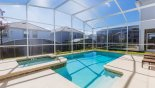 Sunny east facing pool & spa from Champions Gate rental Villa direct from owner