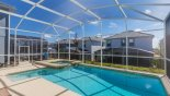 Sunny east facing pool & spa with this Orlando Villa for rent direct from owner