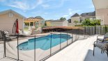 Nantucket 1 Villa rental near Disney with Pool deck gets the sun most of the day - overhang offers welcome shade