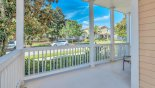 View of attractive street scene from porch - www.iwantavilla.com is the best in Orlando vacation Villa rentals