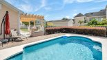 Pool deck with 2 sun loungers & parasol from Nantucket 1 Villa for rent in Orlando