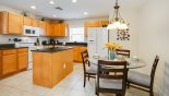 Spacious rental Providence Villa in Orlando complete with stunning Breakfast nook adjacent to kitchen