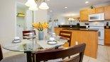 Villa rentals in Orlando, check out the Breakfast nook viewed towards kitchen