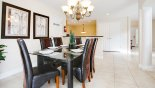 Villa rentals near Disney direct with owner, check out the Dining area with seating for 6 persons