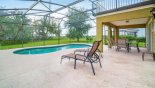 Orlando Villa for rent direct from owner, check out the Large extended pool deck with 2 sun loungers
