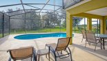 View from sun loungers onto conservation woodland with this Orlando Villa for rent direct from owner