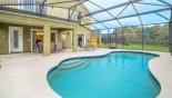 View of 28' x 14' pool towards covered lanai - www.iwantavilla.com is the best in Orlando vacation Villa rentals