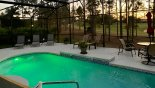 Villa rentals in Orlando, check out the Pool with colour changing underwater lighting