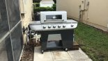 Gas BBQ outside pool deck from Brentwood 11 Villa for rent in Orlando