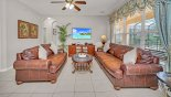 Spacious rental Windsor Hills Resort Villa in Orlando complete with stunning View of family room from breakfast nook