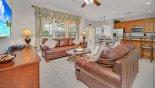 Family room viewed towards breakfast nook & kitchen from Windsor Hills Resort rental Villa direct from owner