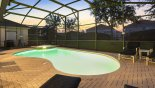 The pool with a western exposure from Brentwood 6 Villa for rent in Orlando