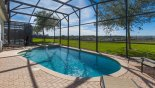 Spacious rental Windsor Hills Resort Villa in Orlando complete with stunning South west facing pool with vast open views