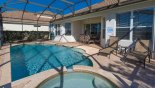 Very private pool deck from Windsor Hills Resort rental Villa direct from owner