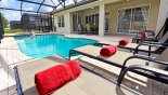 Pool with 3 sun loungers from Sheldon 4 Villa for rent in Orlando