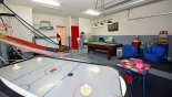 Games room with pool table, air hockey & basketball game from Sheldon 4 Villa for rent in Orlando