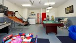 Villa rentals in Orlando, check out the Games room with pool table, air hockey & basketball game