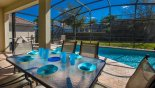 Spacious rental Windsor Hills Resort Villa in Orlando complete with stunning Patio table with 6 chairs