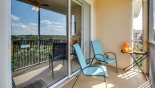 Condo rentals in Orlando, check out the Balcony with 2 chairs & table provided