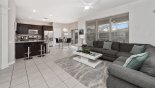 Villa rentals near Disney direct with owner, check out the Breakfast nook with direct access onto pool deck