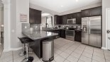 Brentwood 4 Villa rental near Disney with Dining area with glass topped dining table & 8 chairs